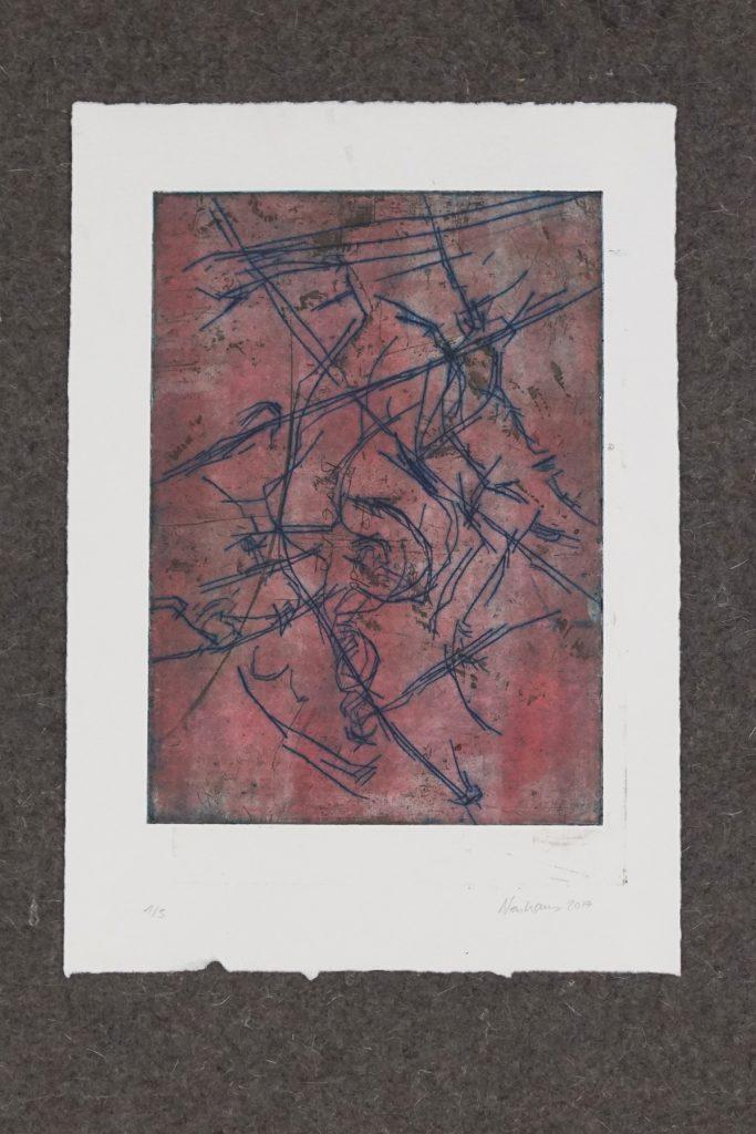SUCHEN UND FINDEN_2, Kaltnadel und Aquatinta auf 300g Hahnemühle Kupferdruckkarton, ca.30x40cm, 2017