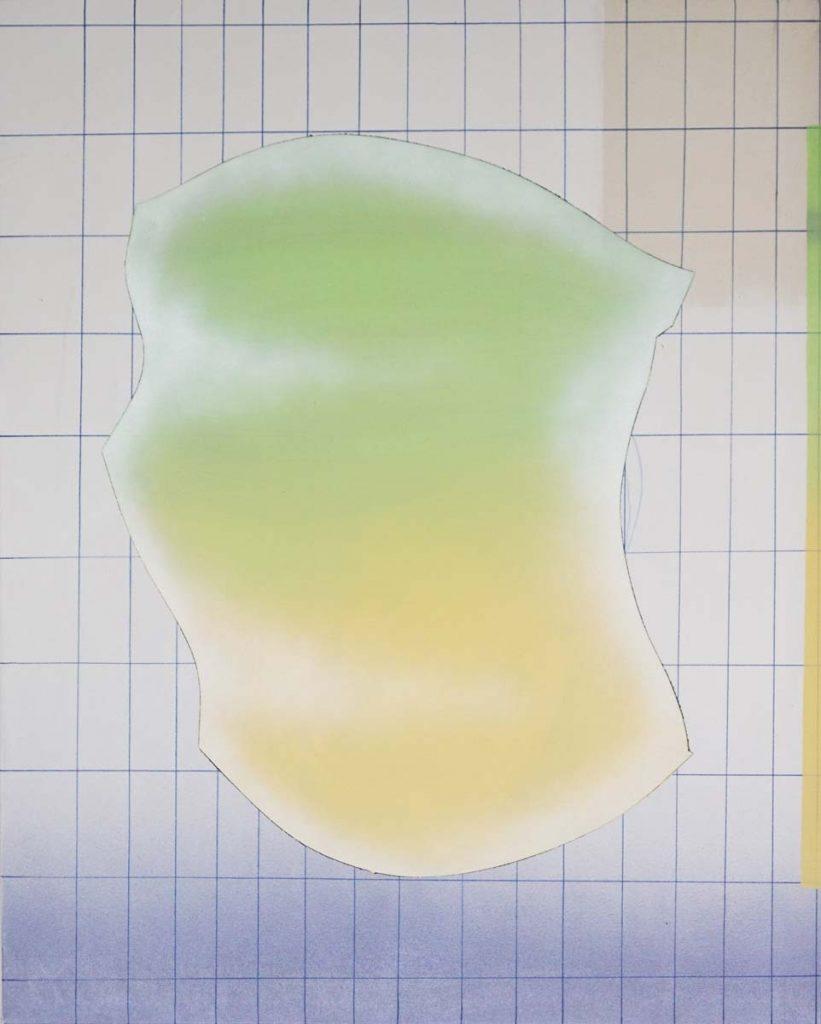 ALTERNATIVES PORTRÄT_2, Mixed Media auf LW, 70x100cm, 2018