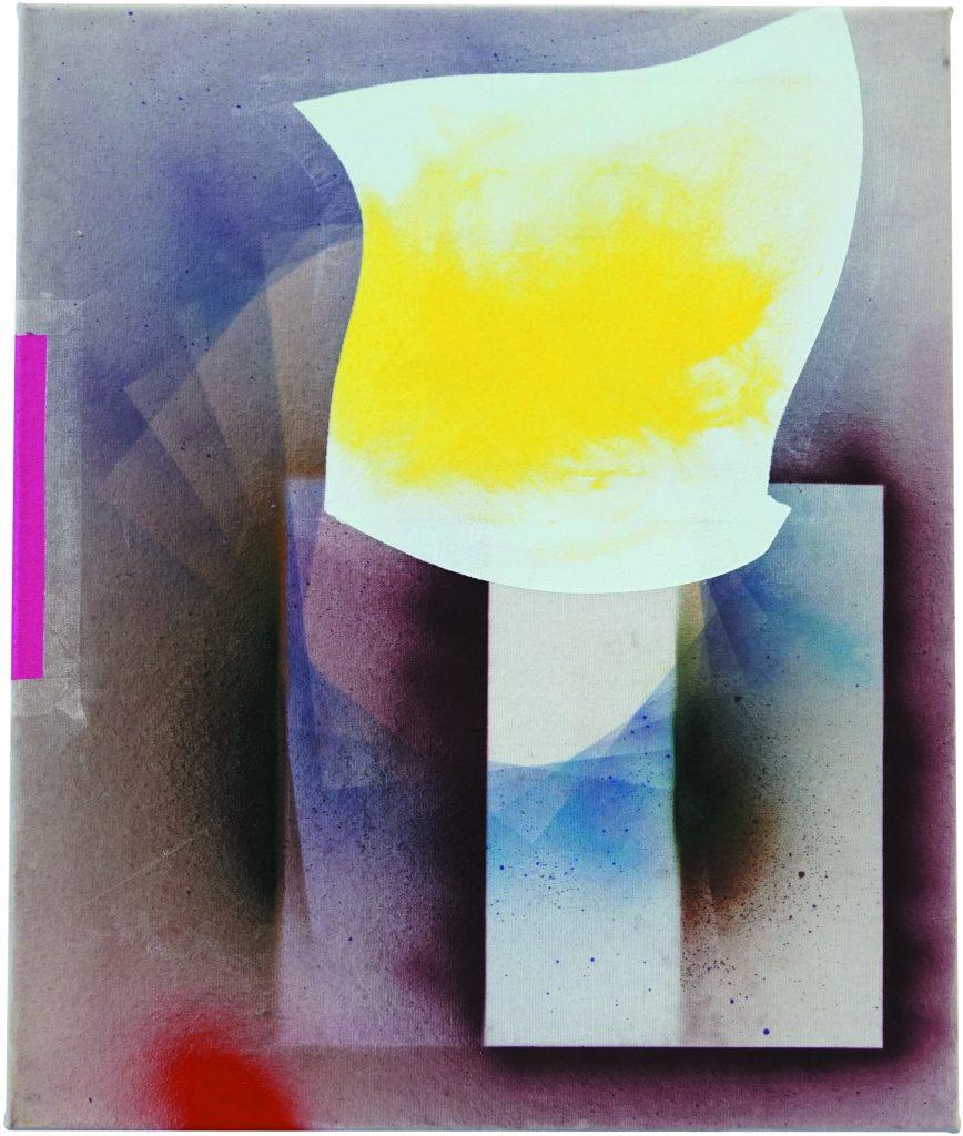 VIER_VON_NEUN, Mixeds Media auf LW, 50x60cm, 2019